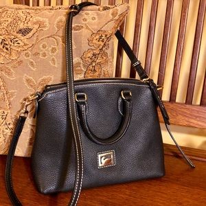 Authentic Dooney & Bourke Black Leather Crossbody
